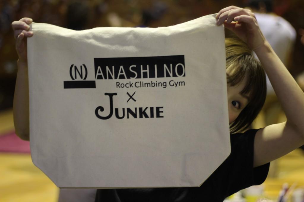 NANASHINO&JUNKIEトートバック。