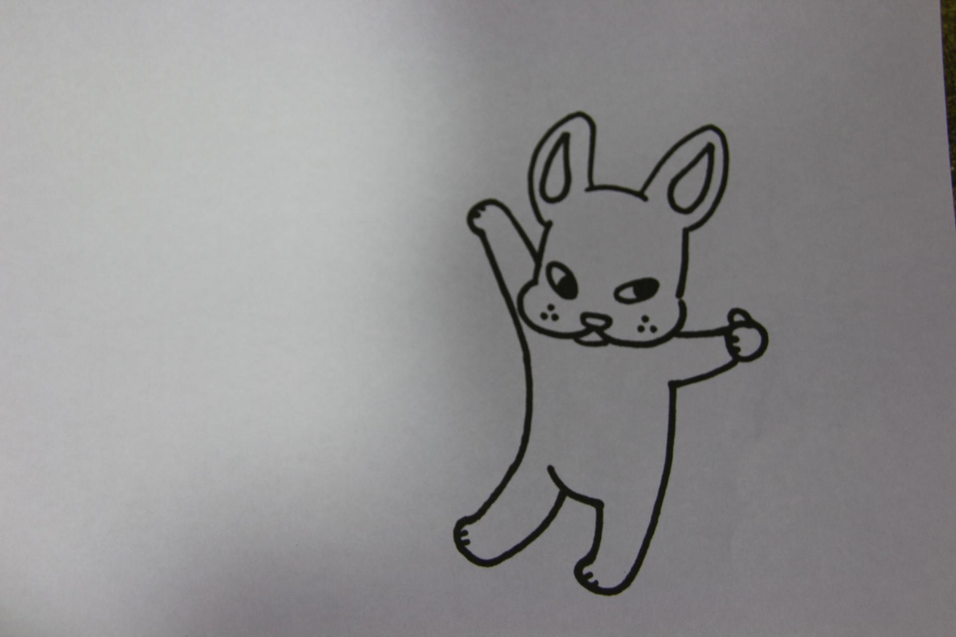 NANASHINOのマスコットです。こいつでTシャツ作ります~。